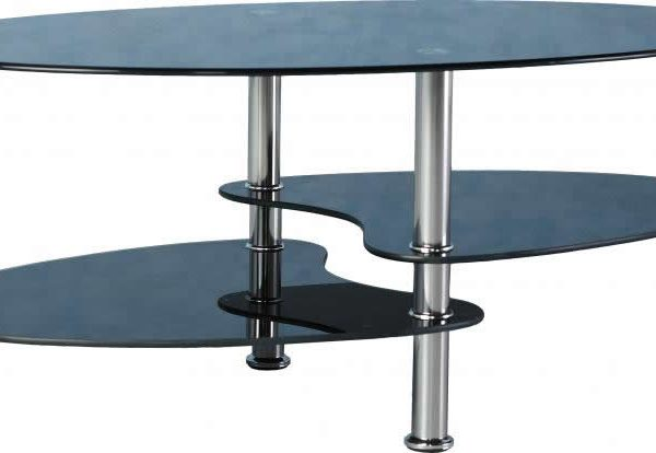 Cara Coffee Table In Black Gl Silver Sydney Bridge