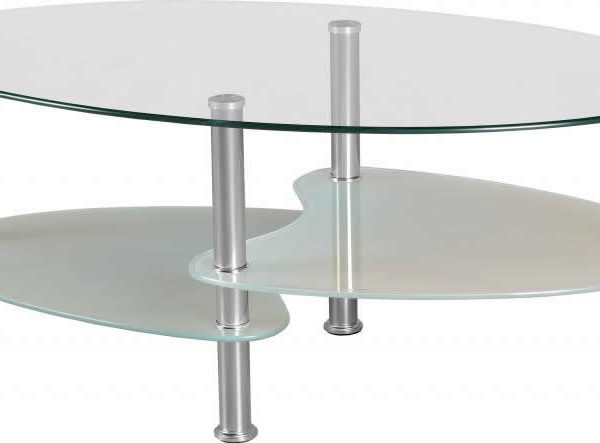 Cara Coffee Table In Clear Gl Frosted Silver Sydney Bridge
