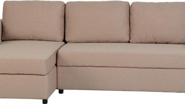 Terrific Dora Corner Sofa Bed In Light Brown Fabric Sydney Bridge Machost Co Dining Chair Design Ideas Machostcouk
